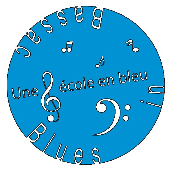 Logo Blues in Bassac - une cole en bleu
